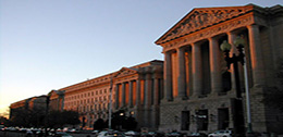 EPA Headquarters Building at Dusk
